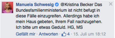 Familienministerium ist nicht befugt